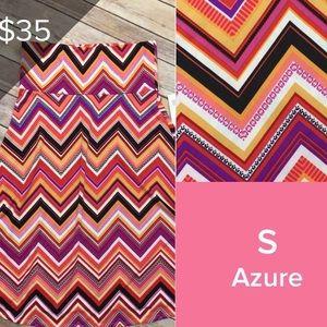 LuLaRoe Azure A-line Skirt w/ elastic waistband